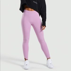 Pink gym shark legging